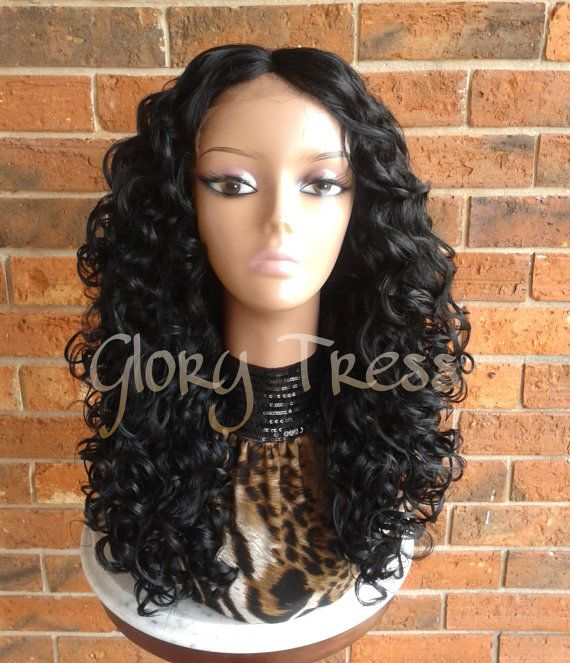 CLEARANCE // Long Black Curly Lace Front Wig Ombre Wigs Big