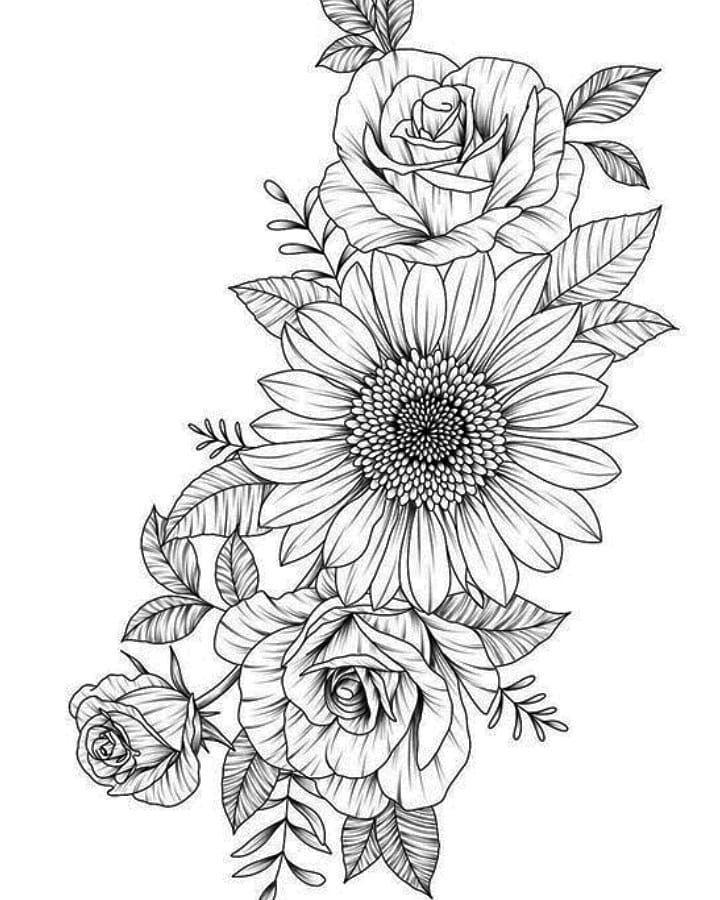 Keine Bildbeschreibung Vorhanden Flowertattoos Flowertattoos Tattoos Floral Tattoo Design Flower Tattoo Designs