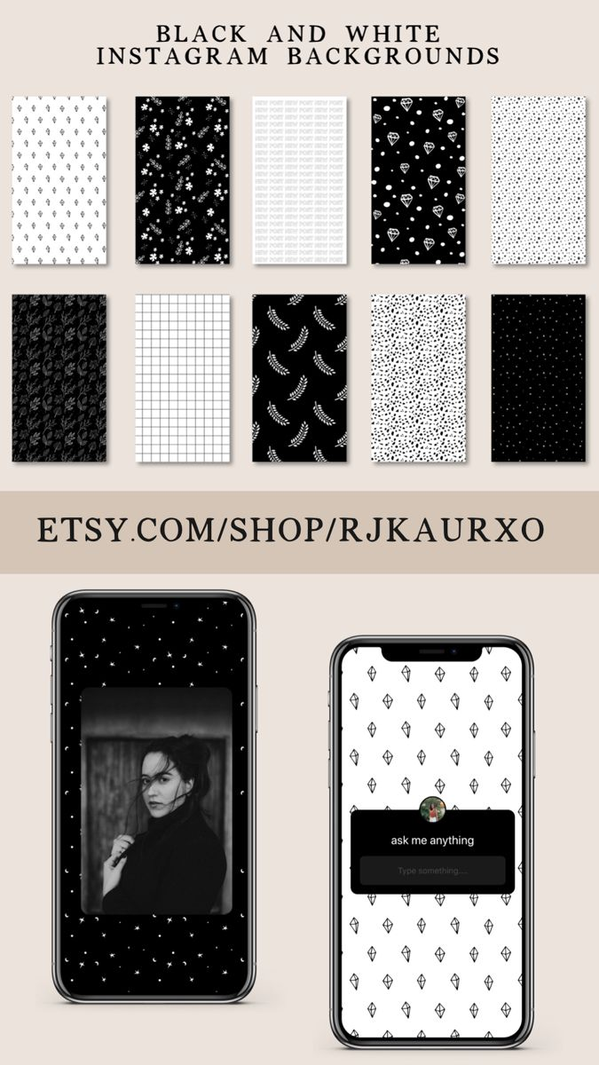 10 Black White Instagram Story Backgrounds Instagram Etsy Black And White Instagram Pastel Background Wallpapers Instagram Template