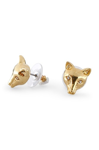C Wonder Fox Stud Earrings, $38, available at C Wonder