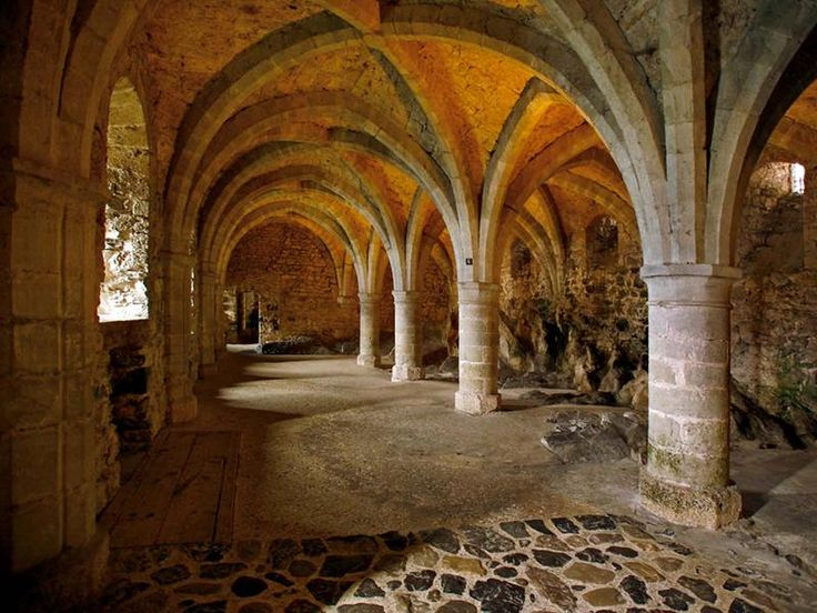 Underground, Castle of Chillon, Canton of Vaud, Switzerland. I have sung hymns down here. The acoustics were fabulous!