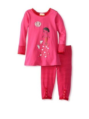70% OFF Sweet Potatoes Baby Hearts A Float Tunic & Legging Set (Red)
