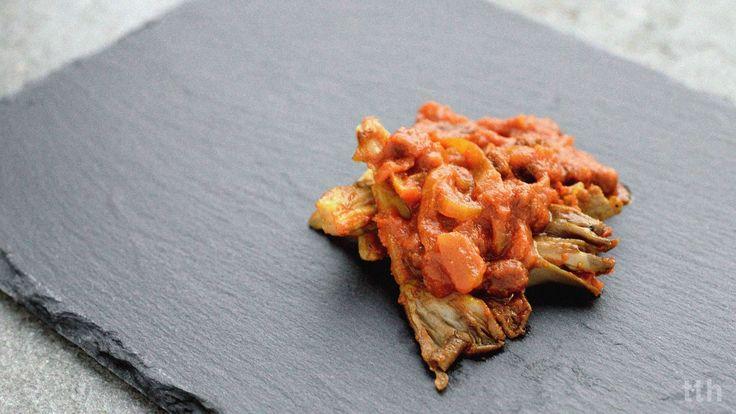 true taste hunters: Boczniaki w słodkiej korzenno-pomidorowej marynacie