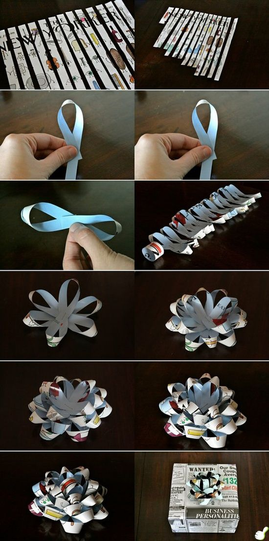 Make a Gift Bow Out of Any Paper