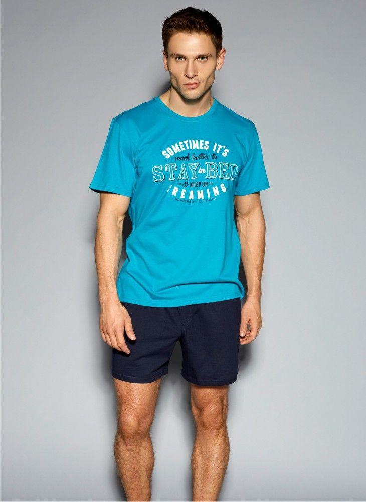 Niebieska piżama Henderson PJ007