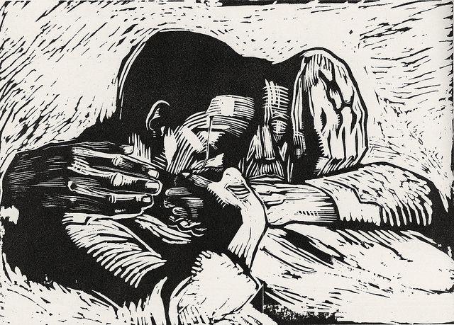 Käthe Kollwitz, 1919, woodcut   Flickr - Photo Sharing!