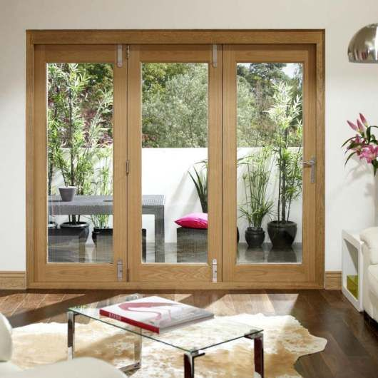 folding patio doors with double glazing fully pre finished Patio Doors Options