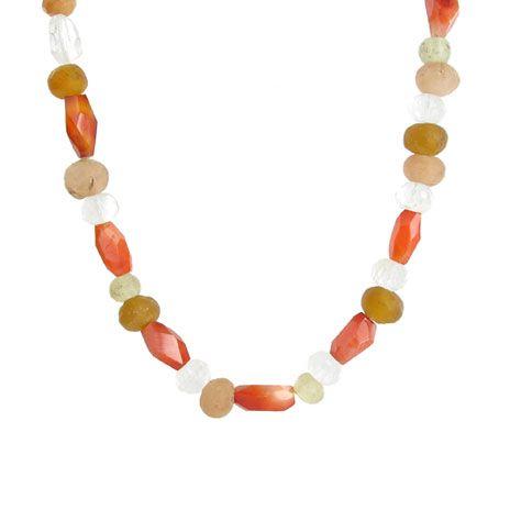 Viking orange stones necklace