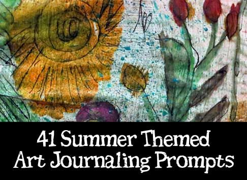 Great for those of us who are new to art journaling and need a little help to think of new pages to create.