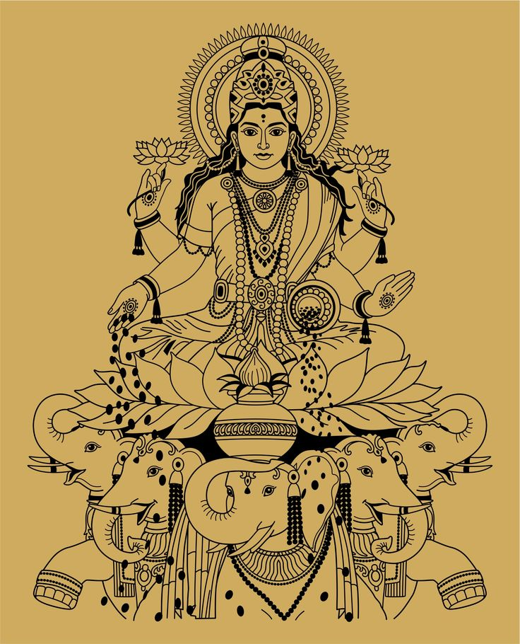Lakshmi, the Hindu goddess of wealth, prosperity, fortune, and beauty