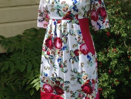 Wine and Roses Dress