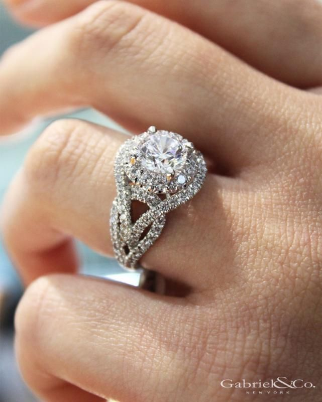 """A love that's made to sparkle."" #GabrielNY #GabrielCoRetailer Style ER11996R6W84JJ  https://eshop.gabrielny.com/engagement-ring/ER11996R6W84JJ"