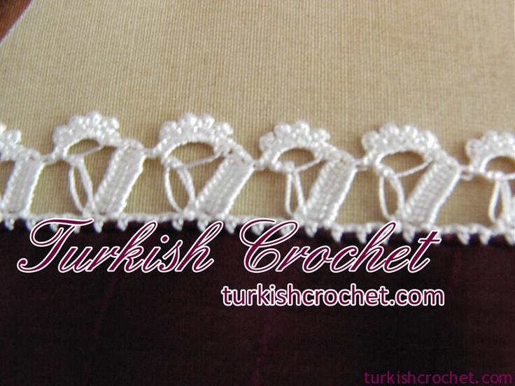 "Turkish ""Oya"" crochet.. check out the site, lots o different Crochet patterns and styles."