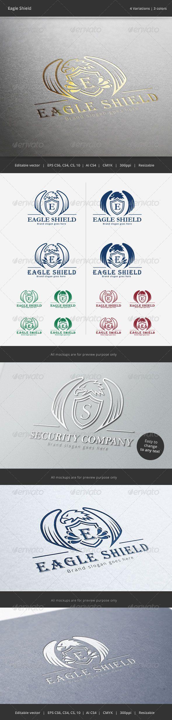 Eagle Shield Crest Logo