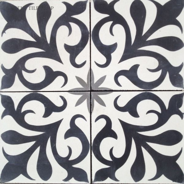 Cement Tile Shop - Encaustic Cement Tile Nantes for step inlay from living to dining room