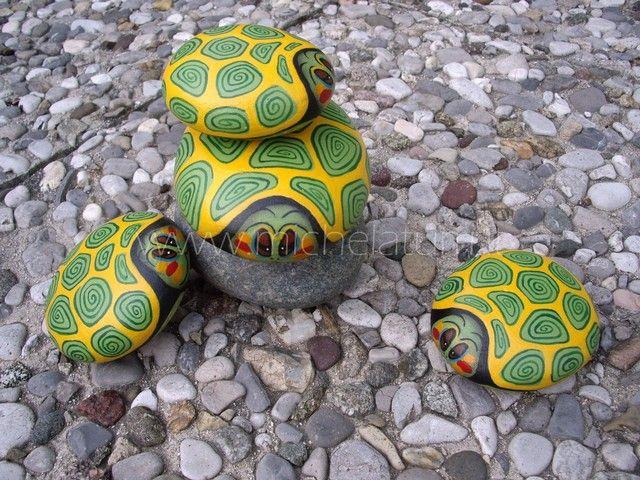 Oltre 25 fantastiche idee su mattoni dipinti su pinterest for Sassi per tartarughe