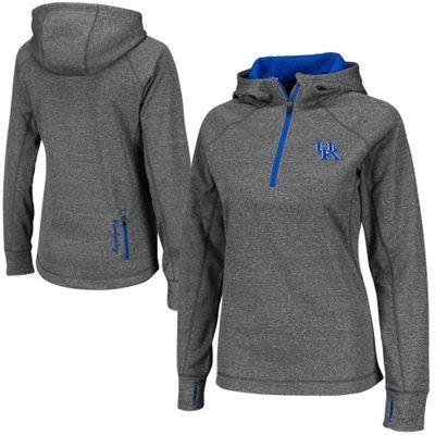 Kentucky Wildcats Ladies Chelsea Quarter-Zip Jacket - Charcoal