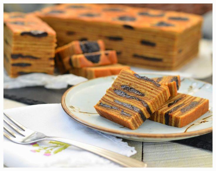 Indonesian Medan Food: Lapis Legit Prune / Kue Spekkoek (Decadent Layered Cake with Prune)
