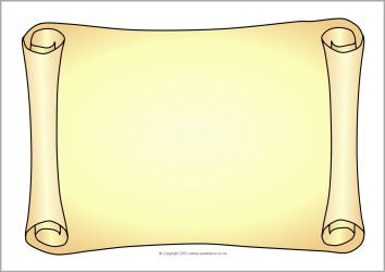 Free downloadable scroll. Fun printable to use in history notebooking.