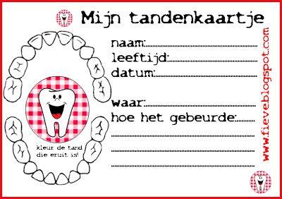 Fieve gratis uit te printen kaart voor tanden wisselen
