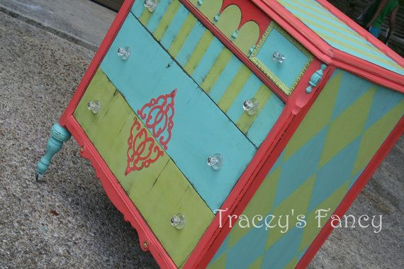 Custom Painted Dresser/Chest of Drawers MADE TO by TraceysFancy, $750.00  Furniture vintage victorian tbellion tracey's fancy antique made to order custom painted dresser chest of drawer distressed
