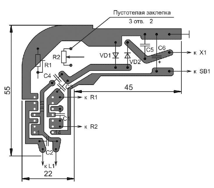 Печатная плата металлоискателя