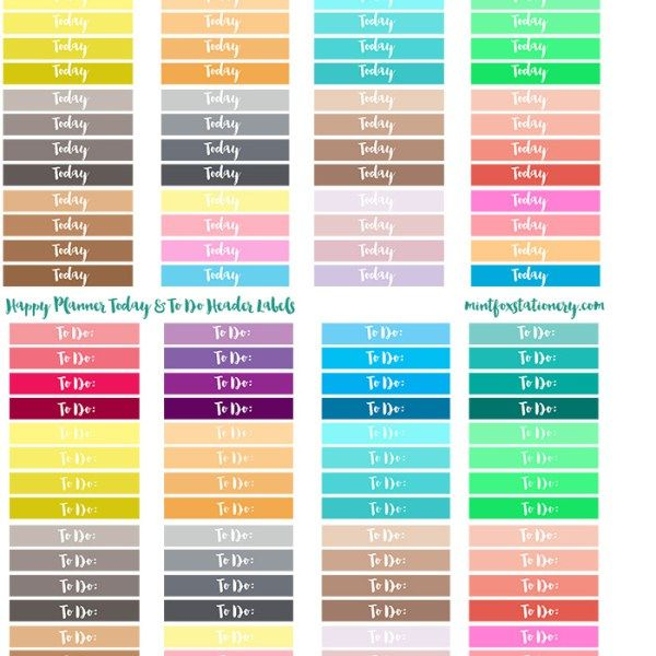 FREE Today and To Do header labels for the Happy Planner to keep yourself organized!