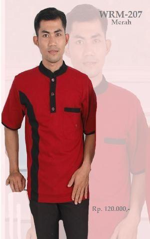 Baju Kemeja Kaos Pria WRM-207 Merah