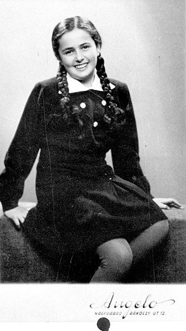 Eva Heyman, aged 13, in Hungary a few months before she was murdered in a gas chamber, 1944