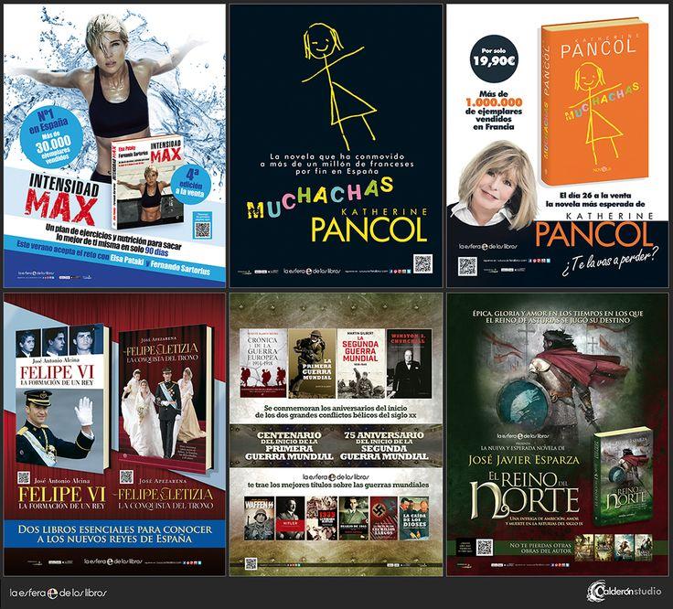 Más piezas de publicidad para prensa que he realizado recientemente para La Esfera de los Libros