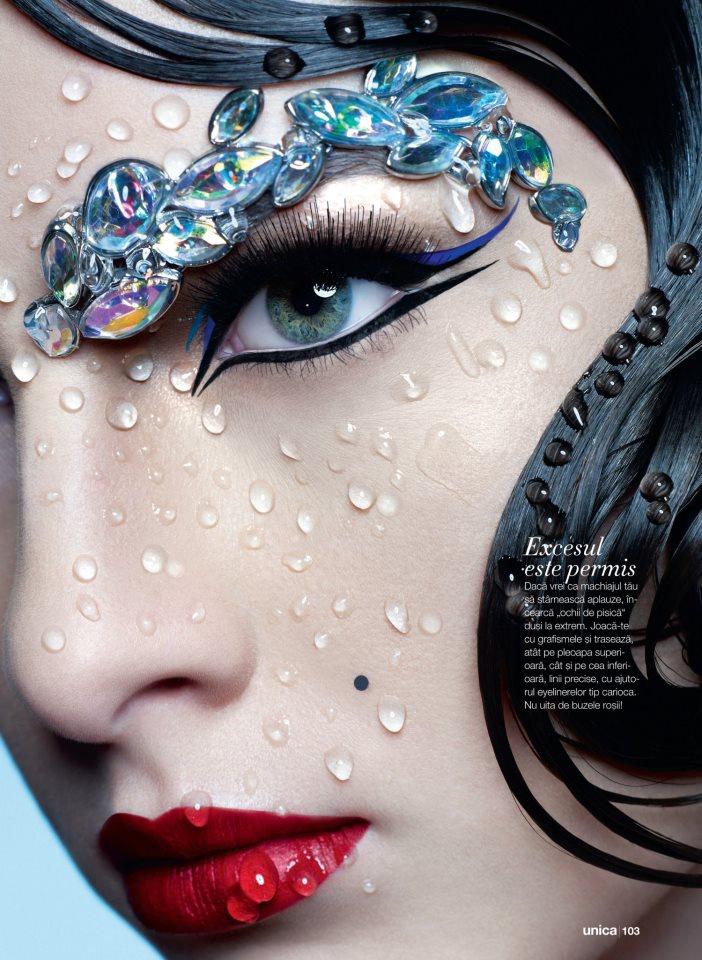 Fashion Shoot makeup with Romanian Fashion Model - Marie Damian