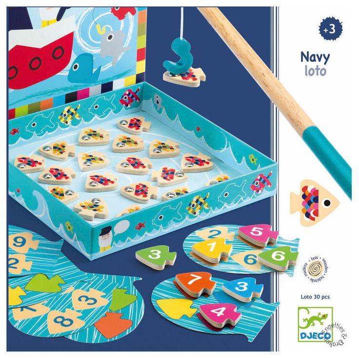 Engeltjes & Draken | Djeco | Navy Lotto (3+) Combineer het bekende visjes vangspel met bingo en je krijgt navy loto van Djeco! Wie vangt de visjes met de juiste cijfers en wie heeft als eerste de juiste kleur visjes gevangen? #djeco #navyloto #visjesvangen
