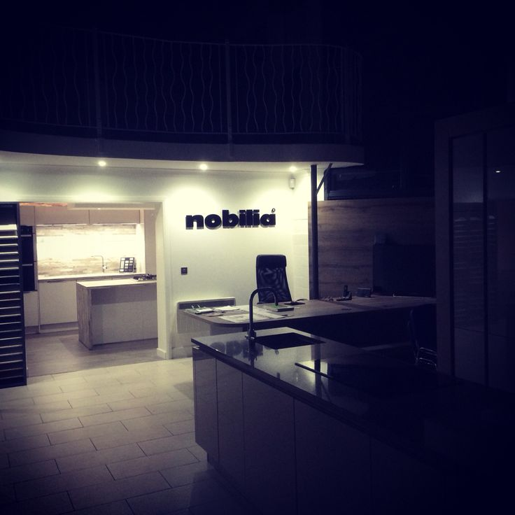 Fresh  showroom at night kitchens nobilia germankitchens glasgow kirkintilloch