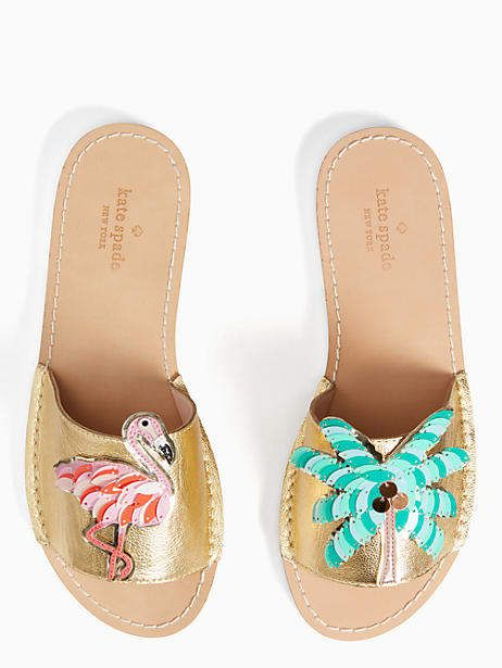 0b18a06d9c1b Kate Spade New York Izele sandals - Kate Spade Sandals with palm tree and  flamingos
