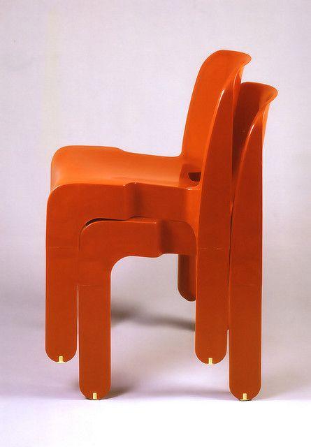 Joe Colombo for Kartell, silla universale // sillas que se cogen cuando estan apiladas