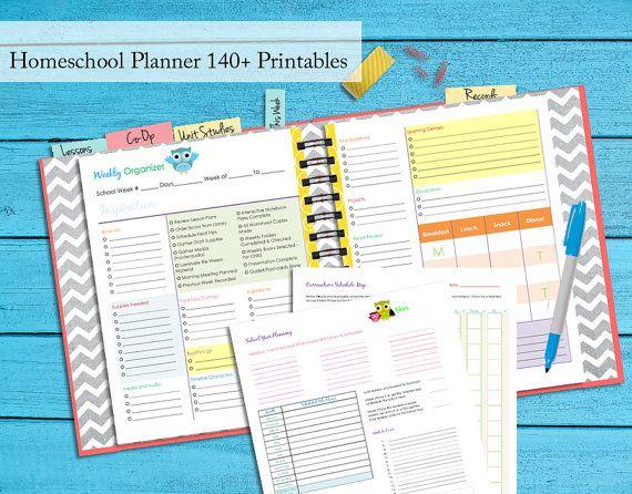 Vintage o Pgs Homeschool Planner Binder Notebook Curriculum Planner Guide Digital PDF Instant Download