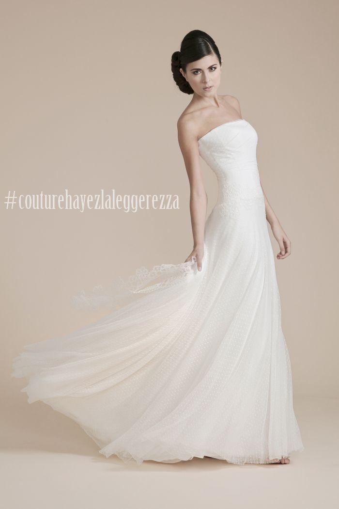 pois, leggerezza, couture hayez, abiti sposa pois, vestito da matrimonio, abito sposa morbido