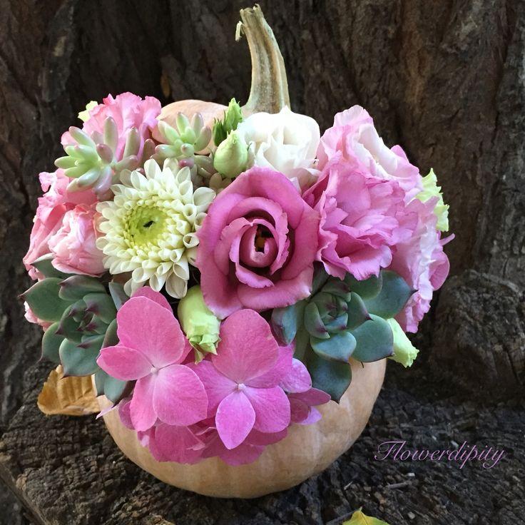 Helowdipity Pumpkin #flowerdipity #autumn #haloween #flowers #pumpkin #decoration #dhalia