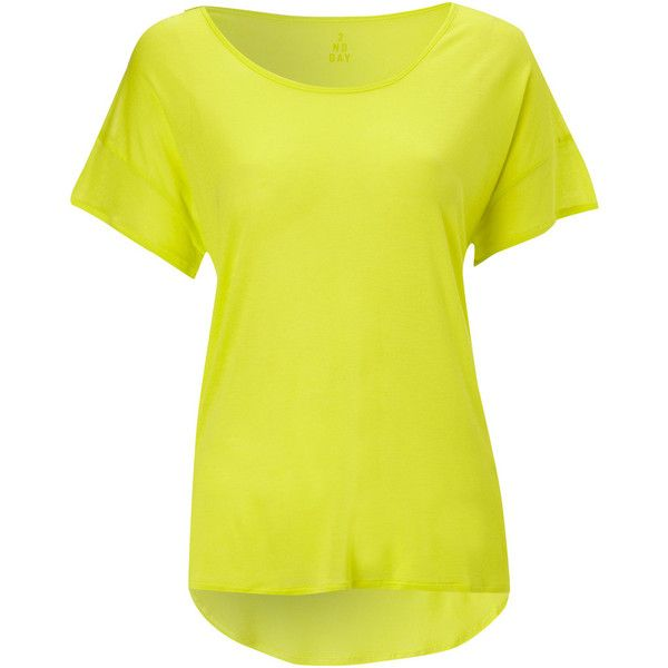 2nd Day Neon Tee - Yellow (49.295 CLP) ❤ liked on Polyvore featuring tops, t-shirts, shirts, blusas, tees, yellow, fluorescent t shirts, summer tops, fluorescent yellow shirt and yellow top