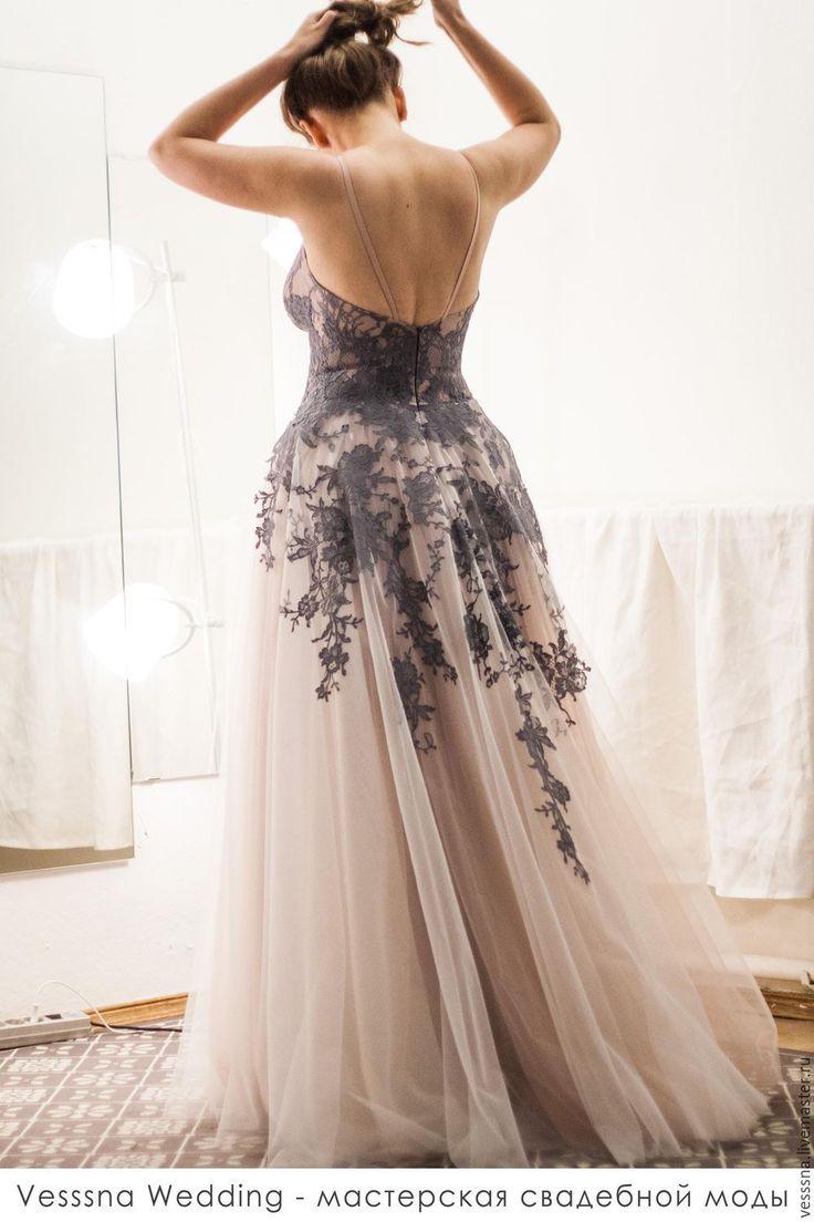 Кружевное свадебное платье - свадебное платье, свадебное платье с поясом, свадебное платье на заказ