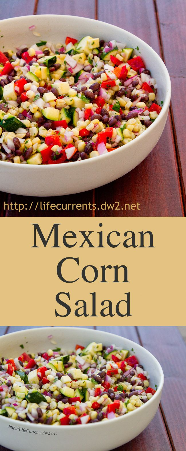 Mexican Corn Salad is a great healthy side dish or even a dip to serve with chips! Perfect for any party or gathering