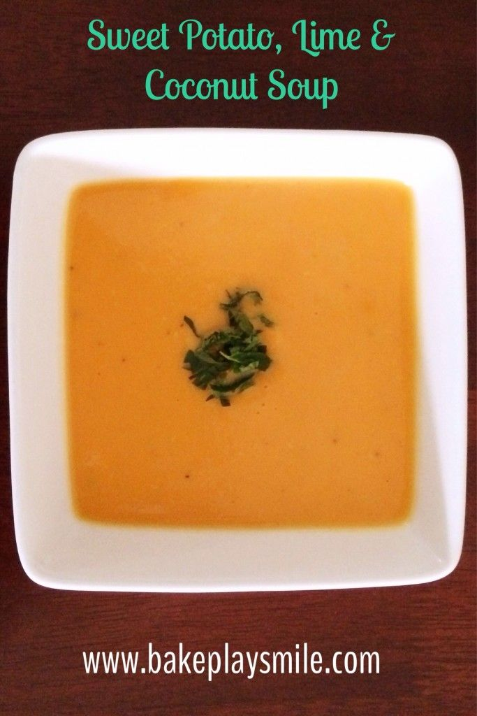 Thermomix Sweet Potato, Lime & Coconut Soup - I think I've made this a million times now! #thermomix http://www.bakeplaysmile.com/sweet-potato-lime-coconut-soup/