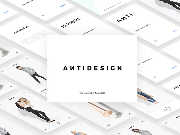 Antidesign - The Minimalist Mobile UI Kit by Florin Gaina