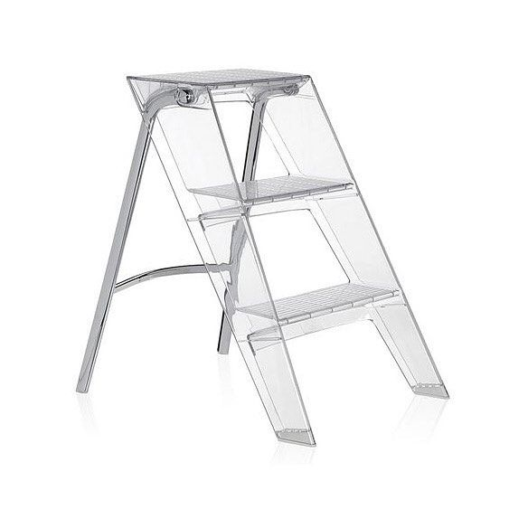 It apparently takes two #designers to change a light bulb.  Or at least that's how many it takes to design the #stepladder to change one.  Sure that battered old wooden #ladder with paint stains has its charms but if you want something as #chic as your #furniture then look no further than the #Upper ladder from #Kartell.  This #stylish little ladder not only looks great, it's extremely pragmatic with good grip on each step, a metal frame with capacity to hold up to 260kg, but best of all…