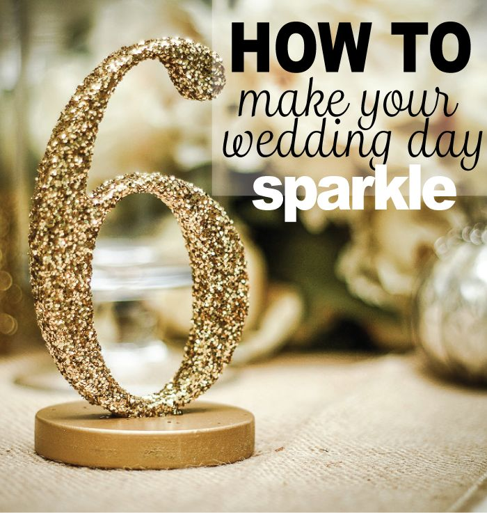 25 best ideas about glitter wedding centerpieces on for Glitter numbers for centerpieces