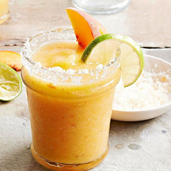 Make your margaritas with a twist! This new Ginger-Peach Margarita recipe at your next picnic: http://www.bhg.com/recipes/drinks/wine-cocktails/low-cal-cocktails/?socsrc=bhgpin061014gingerpeachmargaritas&page=9