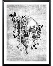 Beneath the surface-Framed Art Print