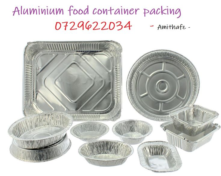 Aluminium food container disposable for curry rice