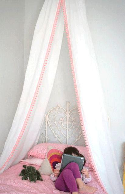 17 mejores ideas sobre mosquitero en pinterest cortinas - Como hacer un pabellon para cama ...