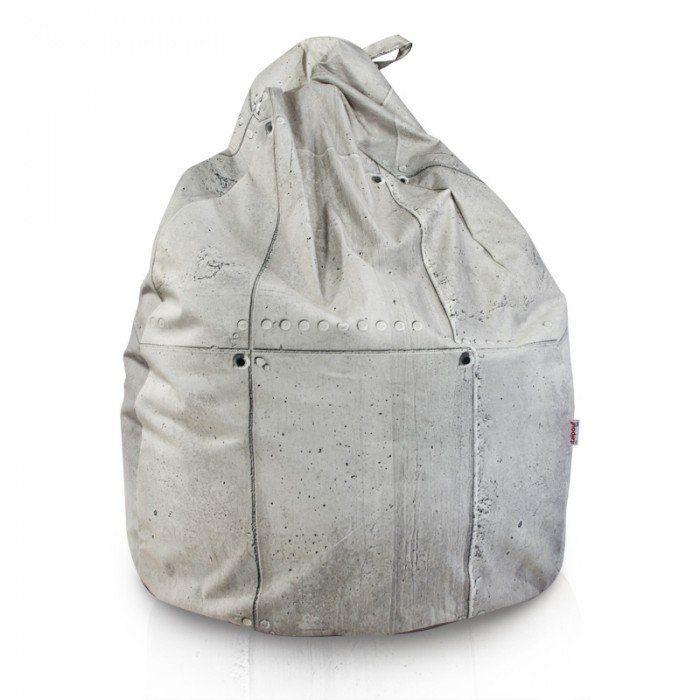 Pouf sacco stile industriale. Pouf di design moderno. Poltrona sacco ...